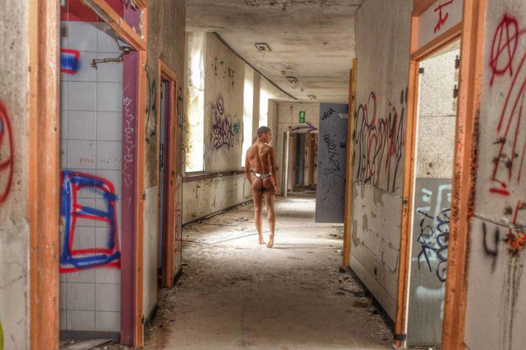 Running around in abandoned asylum